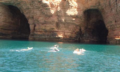 Swimtrek in the Small Cyclades
