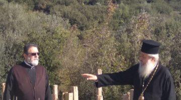 Ο Μητροπολίτης Φθιώτιδας στη Μακρακώμη για τις εργασίες στον Ιερό Ναό του Οσίου Παϊσίου