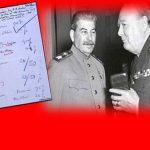 Τέτοιες μέρες πριν 72 χρόνια, Στάλιν & Τσόρτσιλ μοίραζαν την Ελλάδα σε μια χαρτοπετσέτα!